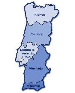 mapa das regiões de portugal PORTUGAL E AS REGIÕES | Rádio Clube Monsanto mapa das regiões de portugal